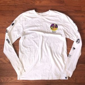 Hurley Surfing Hula Mermaid Logo Shirt Medium
